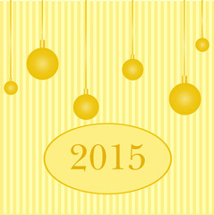 Greeting card happy new year 2015. Vector.
