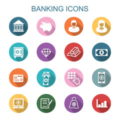 banking long shadow icons