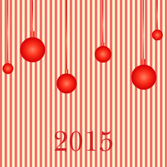 Greeting card happy new year. Vector.