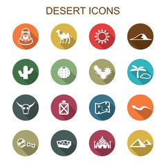 desert long shadow icons