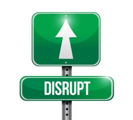 disrupt roadsign illustration design