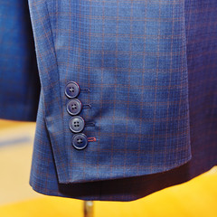Men's jacket for businessman. Detail.