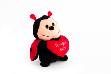 ladybug who holds a heart