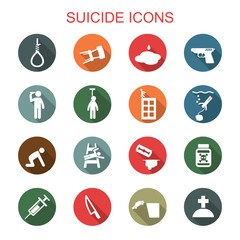 suicide long shadow icons