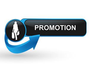 promotion sur bouton web design bleu