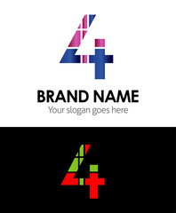 4 number logo icon