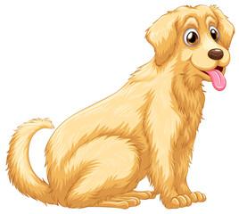 A dog panting