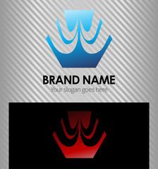 Hexagon Corporate style vector logo design template