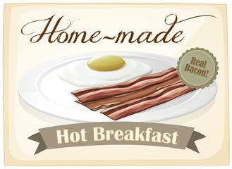A breakfast template