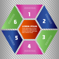 Set of polygon infographic elements