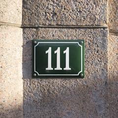 Number 111