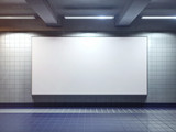 white blank billboard poster indoor