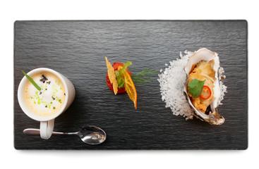 Set of modern style snacks