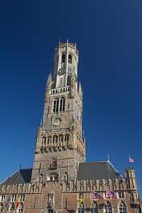 Famous Belfry of Bruges (Belgium)