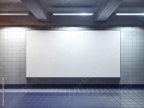 Leinwandbild Motiv white blank billboard poster indoor