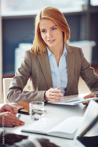 Secretary at meeting - 74172481