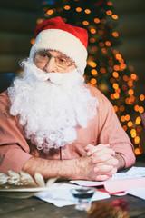 Pensive Santa Claus
