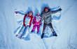 Lying in snowdrift
