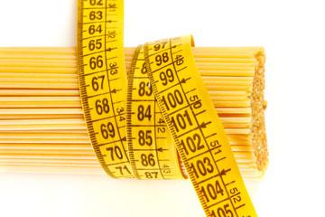 Spaghetti and measuring tape