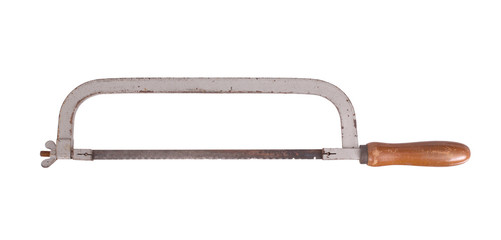 Old rusty hacksaw
