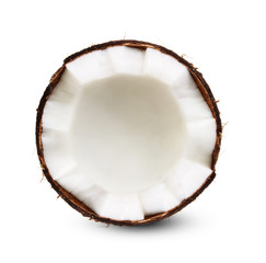 Half of coconut isolated