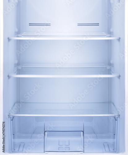 Empty open fridge. - 74174276