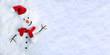 Leinwanddruck Bild - Snowman on snow