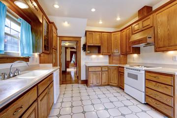 Maple kitchen room interior