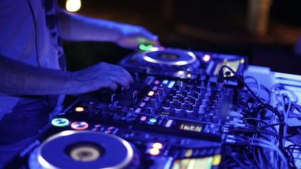 DJ mixer at the club