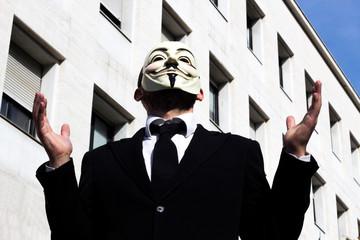 Anonymus business man crestfallen