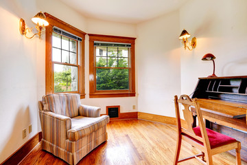 Bright room with antique
