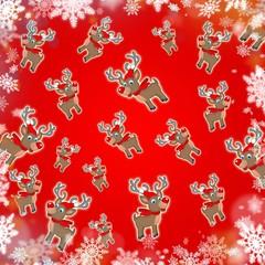 christmas reindeer red cute background