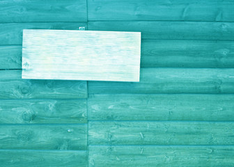 empty sign with wood texture background,blue or cyan color tone