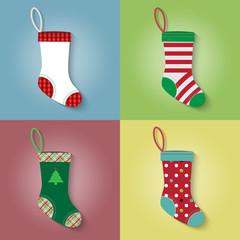 Flat style of Christmas sock