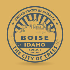 Grunge rubber stamp with name of Boise, Idaho, vector