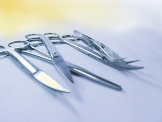 Surgical instruments in a setup