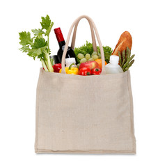 Eco  Shopping bag. isolated on white/clipping path