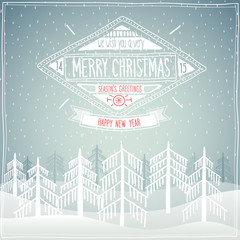 Merry Christmas poster.