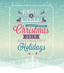 Christmas vintage Poster.