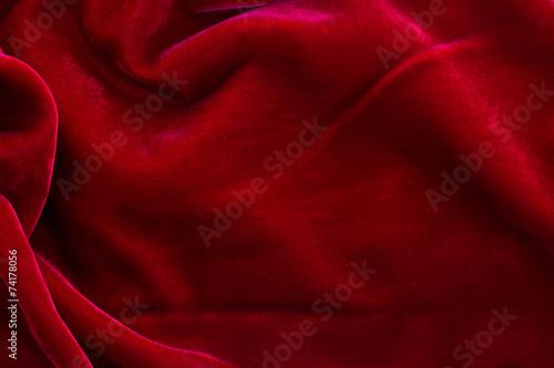 Leinwandbild Motiv red velvet background