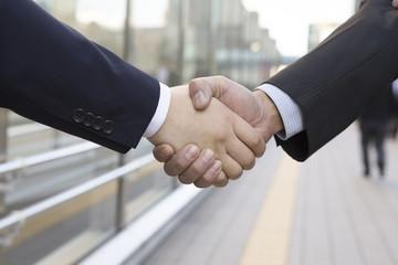 Handshake between businessman