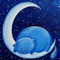 Blue Cat On The Moon