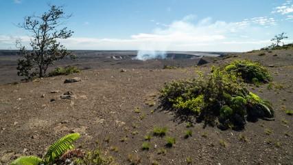 Kilauea Caldera Volcanoes National Park Time Lapse