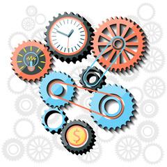 Busines idea in gear symbols
