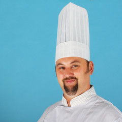 Chef in uniform and hat