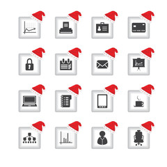 special flat ui icons with Christmas design for web and mobile a