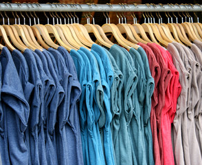 T-shirts with different colors