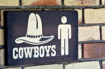 Cowboys toilet