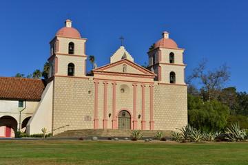 A Spanish Mission at Santa Barbara