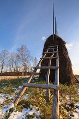 ladder on the hayrick
